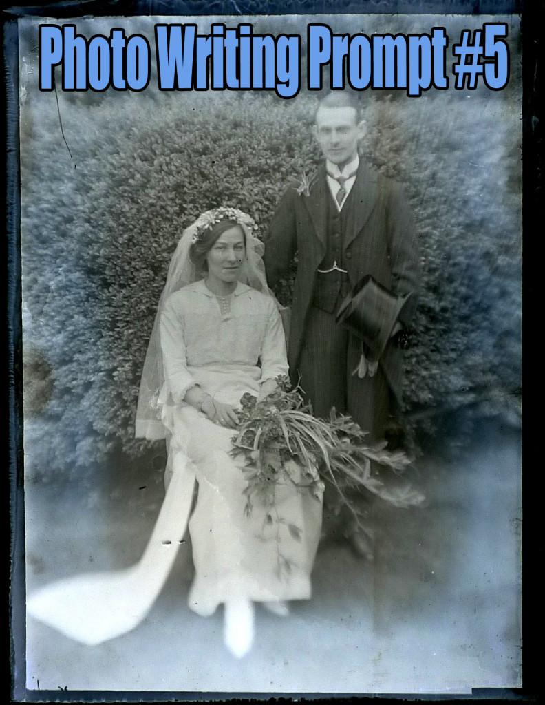 photo writing prompt, couple, wedding, old fashioned